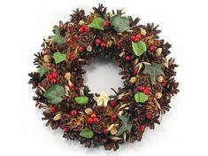 Christmas Wreath Angel Wreath Pinecone Wreath Natural
