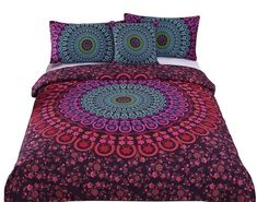 32 Of The Best Duvet Covers You Can Get On Amazon Red Bedding Sets, Bohemian Bedding Sets, Hippie Bedding, Boho Bedding, Queen Bedding Sets, Duvet Bedding, Luxury Bedding, Chic Bedding, King Comforter