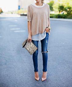 Short sleev fall sweater