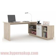 Kancelársky stôl, dub sonoma/biela, DALTON NEW