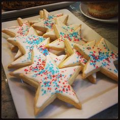 Our homemade 4th of July cookies- delicious. @Dean Kim  DeLuca #july4 #cookies #deandelucakitchen #sthelena #napavalley #CA #food  Dean and Deluca St. Helena