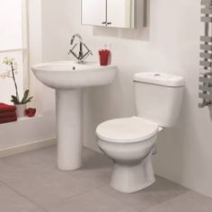 Melbourne Modern Toilet and Basin Set - BestBathrooms.com £99