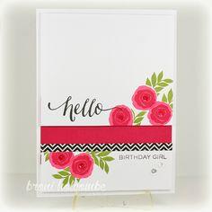 Hello, Birthday Girl! -  Color Throwdown 345 #wplus9 #simonsaysstamp #sss
