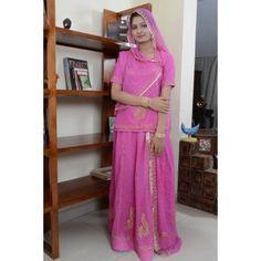 Pretty Pink Rajputi Poshak
