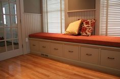 Filing cabinet bench.