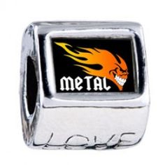 Music Theme Metal Fire Photo Love Charms  Fit pandora,trollbeads,chamilia,biagi,soufeel and any customized bracelet/necklaces. #Jewelry #Fashion #Silver# handcraft #DIY #Accessory