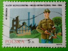 "Stamp 1984 ""Polish Militia"", Poland"