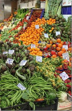 European Farmers Market in Florence, Italy