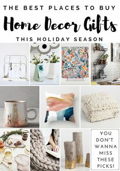 Home Decor Gift Guide - Best Places to Shop for Home Decor Gifts AND a Giveaway! - Dwell Beautiful