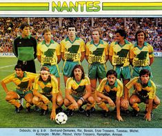 FC Nantes of France team group in Retro Football, Vintage Football, Football Kits, Football Soccer, Soccer Teams, As Monaco, Club, Fc Nantes, France Team