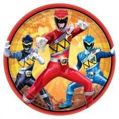 Power Rangers Dino Charge Dessert Plates - 9in (8 Pack)