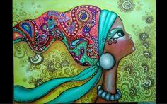 Vibrant Artwork By Romi Lerda Mandala Art, Art Fantaisiste, Wal Art, Diamond Drawing, Portrait Cartoon, Illustration, Arte Pop, Whimsical Art, Medium Art