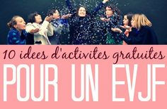 10 free activity ideas for an EVJF - Emmanuelle Commault - - 10 idées d'activités gratuites pour un EVJF 10 free activity ideas for an EVJF (bachelorette party) because the budget for the evjf is often THE problematic subject! Wedding Car, Wedding Tips, Wedding Events, Our Wedding, Bachelorette Party Themes, Free Activities, Team Bride, Marry Me, Pose