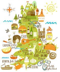 Lauren Radley - UK food festivals map