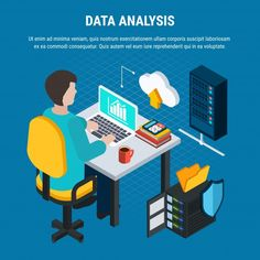 Data analysis isometric | Free Vector #Freepik #freevector #texture #technology #computer #paper Information Processing, Data Processing, Database Icon, Cloud Office, Network Icon, Cloud Computing Services, Cloud Data, Proxy Server, System Administrator