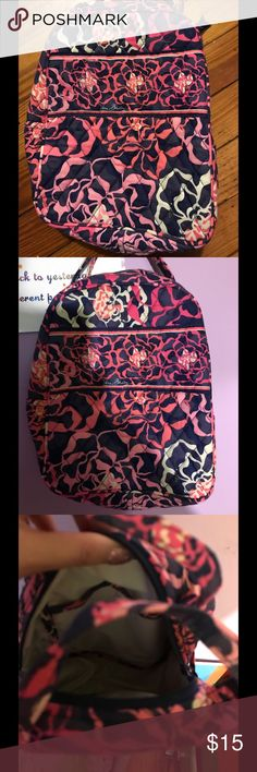 Vera Bradley lunch bag Holds most pre-packaged frozen meals or Thermos(R) Slip pocket and a large zippered opening, plus an ID window. Barely used. Vera Bradley Bags Travel Bags