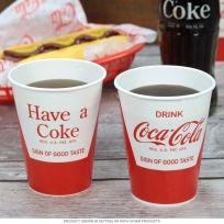 Coca-Cola Soda Fountain Paper Cups 24 Pack $8.99