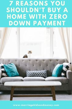 Anonymous asks if it's a good idea to buy a home with zero down payment. I share 7 reasons why now is not the best time to buy a home.