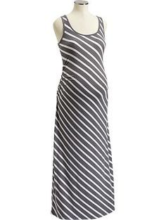 Maternity Tank Maxi Dresses. Pair with a cute belt to add a pop of color?
