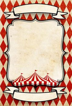 Circus Vintage customizable cards for your birthday wedding and other events instant download