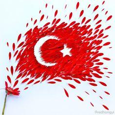 Dit is een Turkse vlag die ik goed kan gebruiken bij mijn proces dus dat ga ik doen