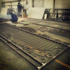Wrought Iron Sliding Gate