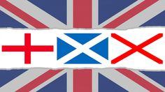 Cruces que componen la Bandera del Reino Unido