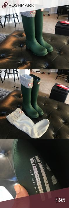 Hunter Boots Great condition green Hunter boots size 6 Hunter Shoes Ankle Boots & Booties