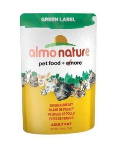 Almo Nature Green Label Chicken Breast Cat Food 1 Case - 24 Pouches (55g/ea) * Hurry! Check out this great product : Best Cat Food