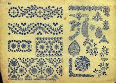 Hungarian Embroidery A teljes méretű képhez kattints ide Hungarian Embroidery, Folk Embroidery, Learn Embroidery, Chain Stitch Embroidery, Embroidery Stitches, Embroidery Patterns, Crochet Patterns, Stitch Head, Embroidery Techniques