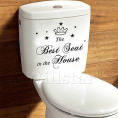 väggdekorationer Väggdekaler, stil bästa sitt engelska ord& citerar pvc … Wall Stickers Toilet, Cheap Wall Stickers, Wall Stickers Home Decor, Stickers Online, Vinyl Wall Art, Vinyl Decals, Wall Decals, Bathroom Decals, Diy Bathroom Decor