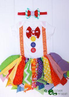 Rainbow Tutu  Circus Tutu   Circus Birthday by cloverandbeantutus
