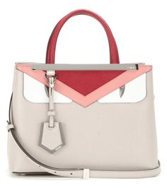 Fendi - 2Jours Petite leather tote - Fendi's covetable '2Jours' tote gets a mini makeover with this playful revamp. Downsized, yet still with room to fit your essentials, this durable beauty is constructed with panels of red, pink and white leather to create a cartoon-like face. Sling it over your shoulder or swing it nonchalantly from the top handles. seen @ www.mytheresa.com