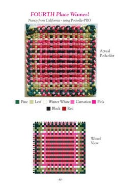 Our first collection of new exciting designs with detailed instructions on how to weave them. You will discover that there are unlimited design possibilities with our simple potholder looms. Potholder Loom, Potholder Patterns, Crochet Patterns, Crochet Birds, Crochet Bear, Crochet Food, Crochet Animals, Loom Weaving, Hand Weaving