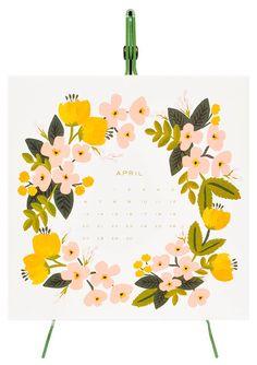 2014 botanical desk calendar