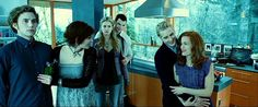 Edward takes Bella home to meet the Cullen family.