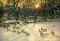 Painting - The Shortening Winters Day Is Near A Close by Joseph Farquharson