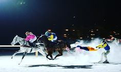 Now that's unbelievable skill - @white_turf @longines and @stmoritz all come together for a two week festival of racing on ice! - let's recap to last years race where the winners were training and riding the race in #StrideFree [link in bio]