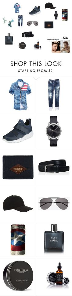 """""""Dean and Echo"""" by shriquinn on Polyvore featuring Dsquared2, Puma, Emporio Armani, Tod's, Christy, Yves Saint Laurent, Chanel, Pankhurst, men's fashion and menswear"""