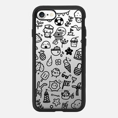 doodle nautical black by imushstore - Classic Grip Case