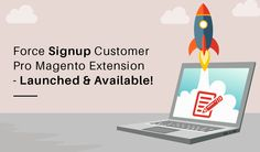 """Envision Ecommerce release our next Magento extension """"Force Signup Customer Pro"""" for Magento store owners to force their users to first login/register before viewing any part of their Magento store. #Magento #MagentoExtension"""