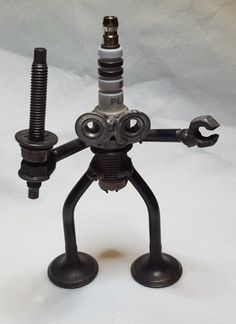 Defender for the King of Nuts and Bolts, Awesome Welded Sculpture  and OOAK!!! by CreativeCreations06 on Etsy