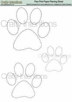 Tatzen-Druck-Papier Piercing Pattern