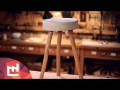 DIY Project : Make a ciment and wood stool - YouTube