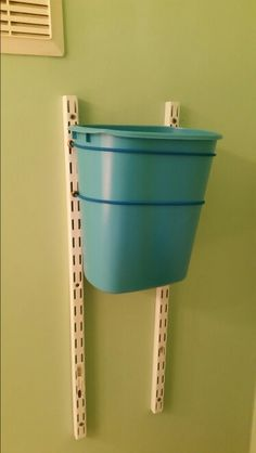 Dog-proof bathroom trash can.
