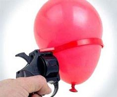 This is an actual item and this is the actual advertisement:    Enjoy a game of Russian Roulette with the whole family where nobody has to die – this water balloon version of the deadly roulette game plays with similar rules, only the loser walks away with completely soaked clothing and not a bullet in the head.