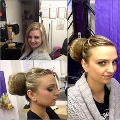 Updo :) Updos, Pearl Earrings, Dreadlocks, Hairstyle, Beauty, Fashion, Up Dos, Hair Job, Beleza