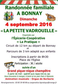 """Randonnée """"La petite vadrouille"""" le 4 septembre 2016 à Bonnay : http://clun.yt/2c2MW9z"""