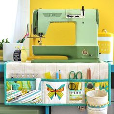 Now that our Secret Sister swap reveal is over, I can share one of the projects I'd been secretly working on the past few weeks. I made this sewing mat organizer that also doubles as a cover and will be doing a tutorial for the blog in the next few weeks (because I totally need one for myself!), so stay tuned! #swapaholicsretreat #butterflycharmblocks