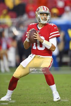 941a09f13 News Photo   Jimmy Garoppolo of the San Francisco 49ers drops... Nfl 49ers